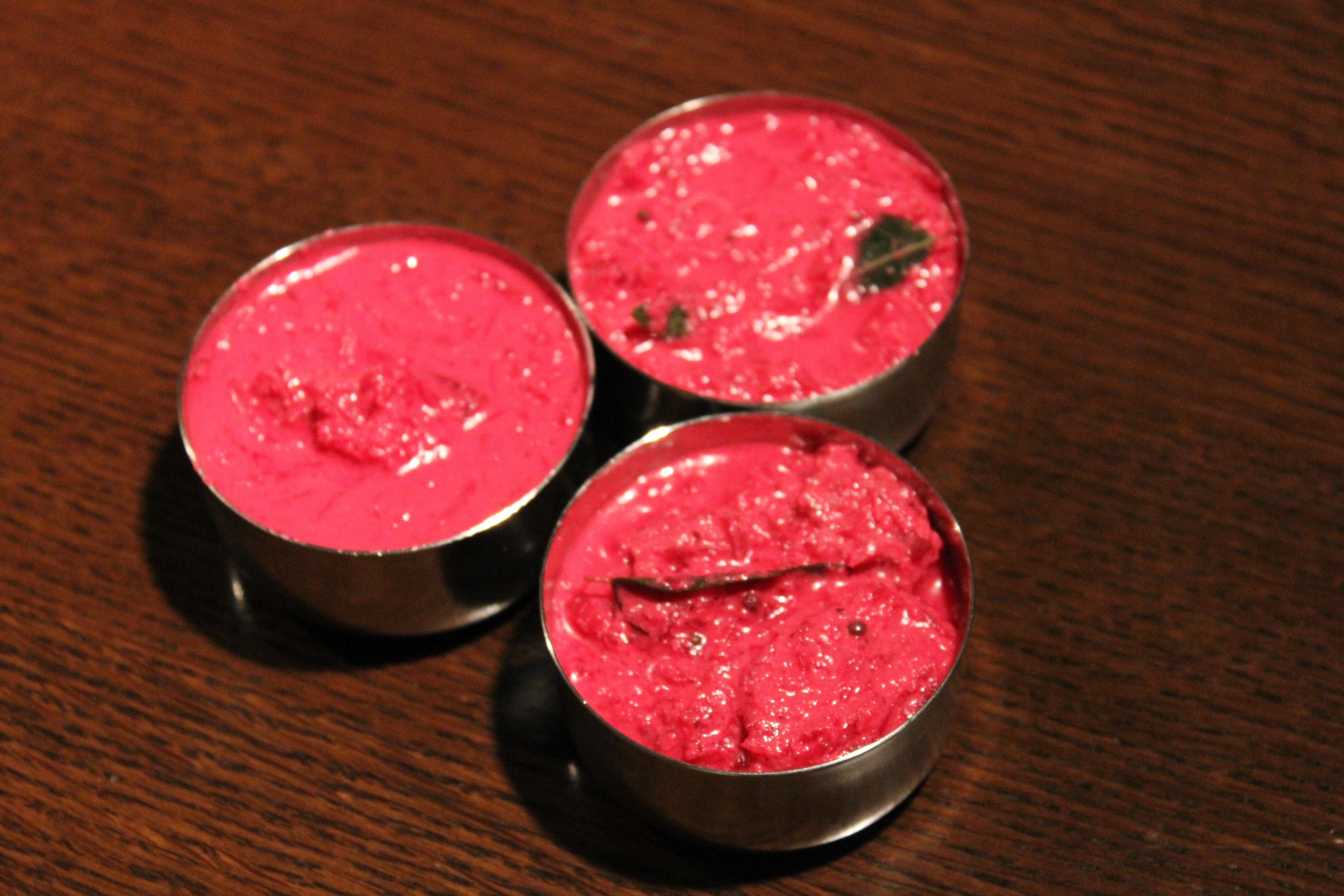 ケララの色鮮やかなカレー「ビーツのパチャディ 」のレシピ