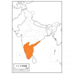 南インドとはこのあたりです