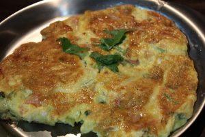 マサラオムレツのレシピ