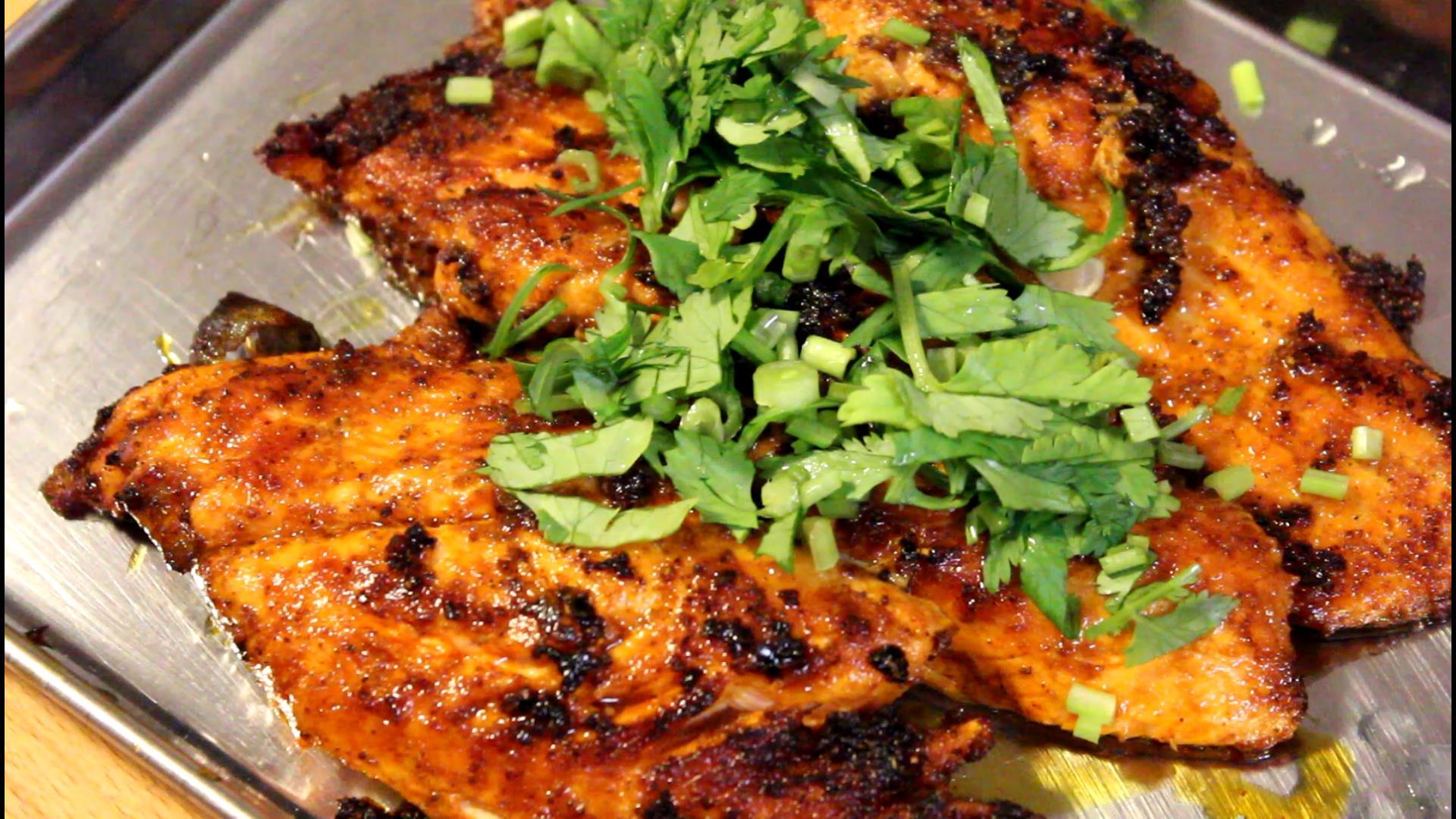 鮭のスパイス焼きのレシピ
