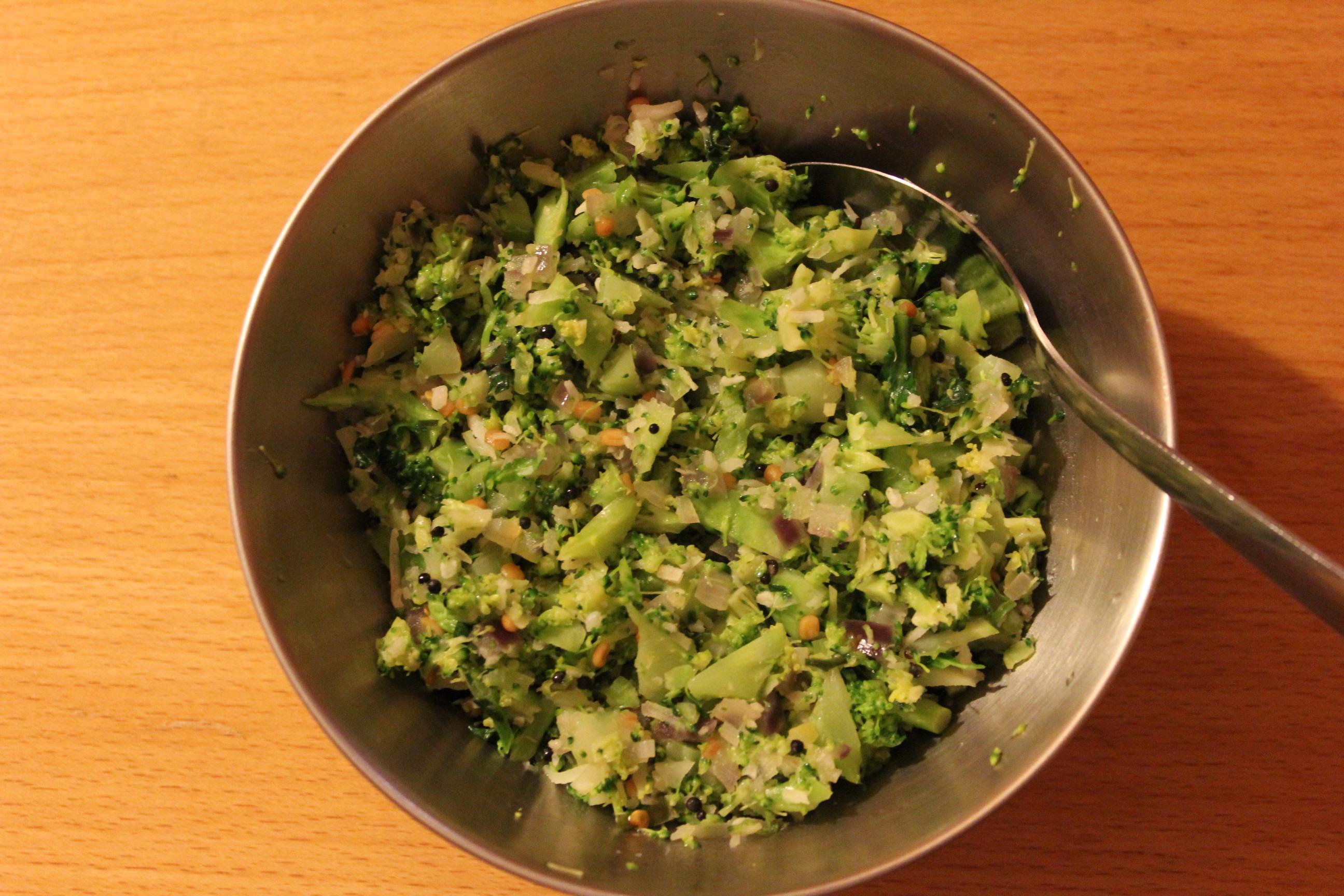 ブロッコリーのポリヤルのレシピ broccoli poriyal