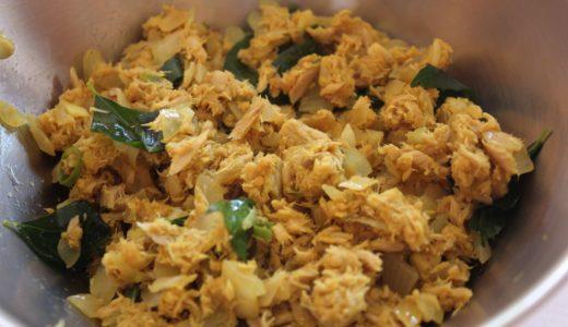魚のそぼろ in インド 「ツナのプットゥ」のレシピ